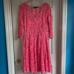 Chetta B 12 Lace Long Sleeve Dress